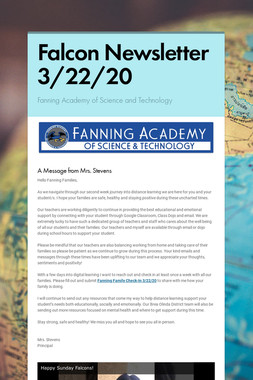 Falcon Newsletter 3/22/20