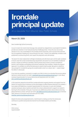 Irondale principal update