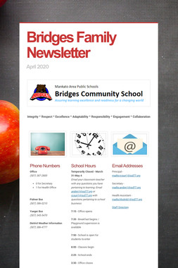 Bridges Family Newsletter