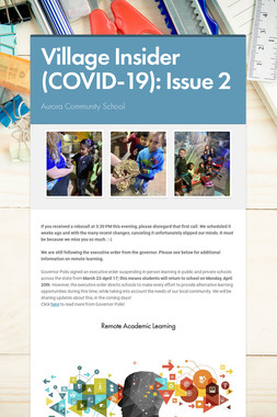 Village Insider (COVID-19): Issue 2