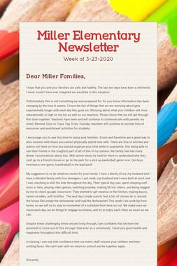Miller Elementary Newsletter