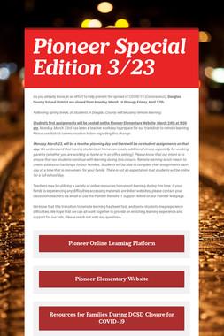 Pioneer Special Edition 3/23
