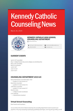 Kennedy Catholic Counseling News