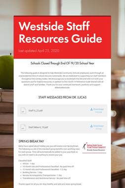 Westside Staff Resources Guide