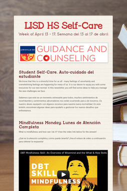 Student Self-Care Secondary