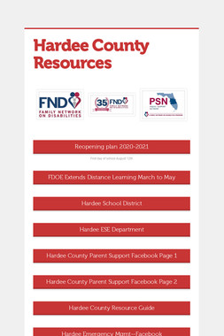 Hardee County Resources