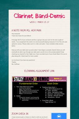 Clarinet Band-Demic