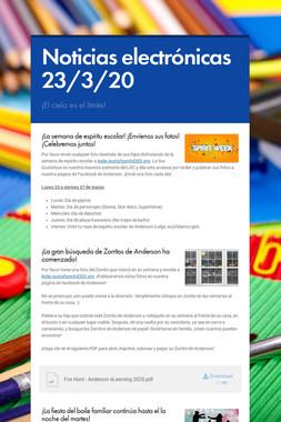 Noticias electrónicas 23/3/20