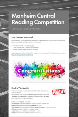 Manheim Central Reading Competition