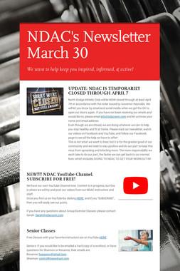 NDAC's Newsletter March 30