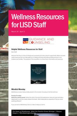Wellness Resources for LISD Staff