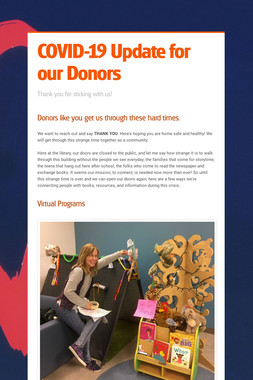 COVID-19 Update for our Donors