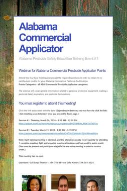 Alabama Commercial Applicator