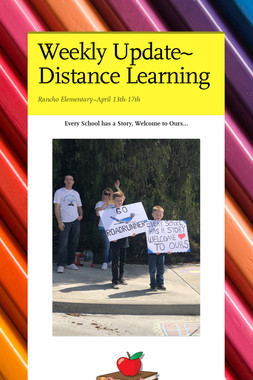 Preparing for Distance Learning~