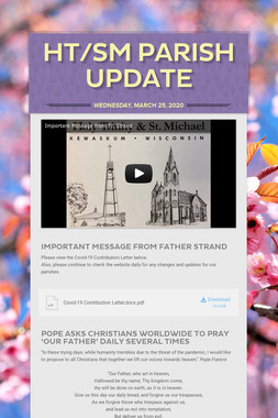 HT/SM Parish Update