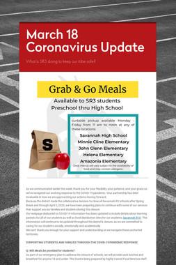 March 18 Coronavirus Update