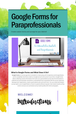 Google Forms for Paraprofessionals