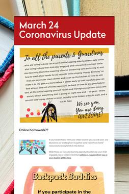 March 24 Coronavirus Update