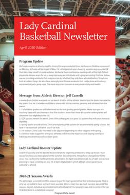 Lady Cardinal Basketball Newsletter