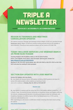 Triple A Newsletter