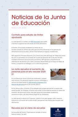 Noticias de la Junta de Educación
