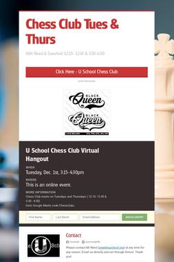 Virtual Chess Club Hangout
