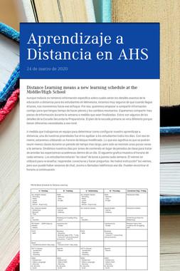 Aprendizaje a Distancia en AHS