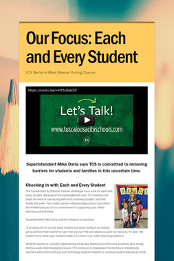 Our Focus: Each and Every Student