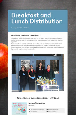 Breakfast and Lunch Distribution