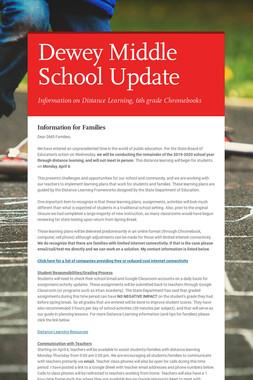 Dewey Middle School Update