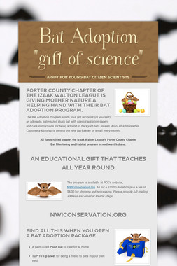 "Bat Adoption ""gift of science"""