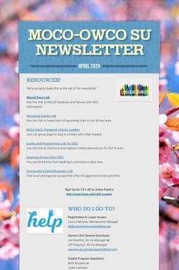 MoCo-OwCo SU Newsletter