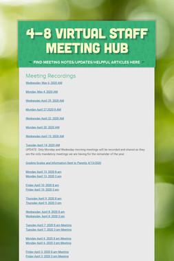 4-8 Virtual Staff Meeting Hub