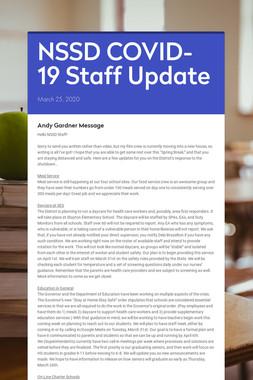 NSSD COVID-19 Staff Update