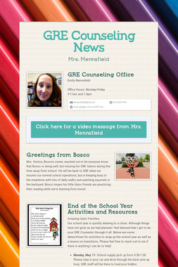 GRE Counseling News