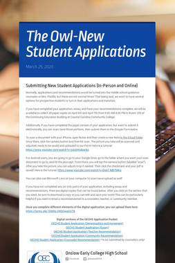 The Owl-New Student Applications
