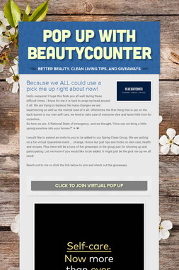 Pop Up with Beautycounter