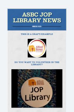 ASBC JOP LIBRARY NEWS