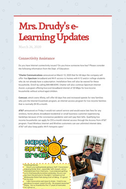 Mrs. Drudy's e-Learning Updates