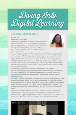 Diving Into Digital Learning