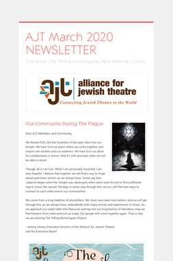 AJT March 2020 NEWSLETTER