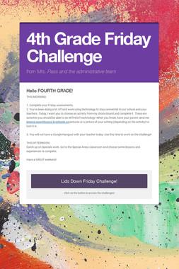 4th Grade Friday Challenge