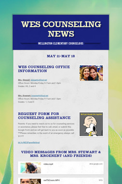WES Counseling News
