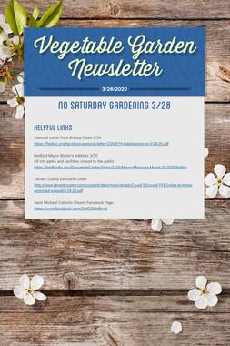 Vegetable Garden Newsletter