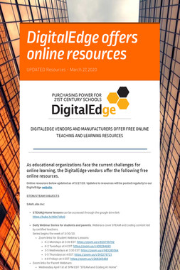 DigitalEdge offers online resources