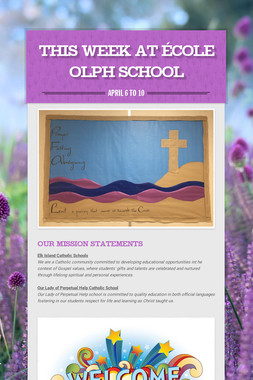 This Week at École OLPH School