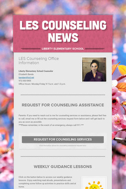 LES Counseling News