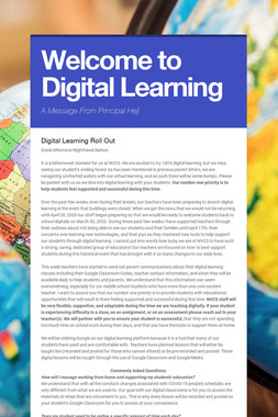Welcome to Digital Learning
