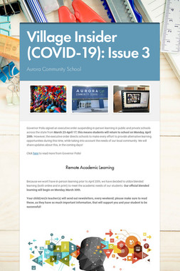 Village Insider (COVID-19): Issue 3
