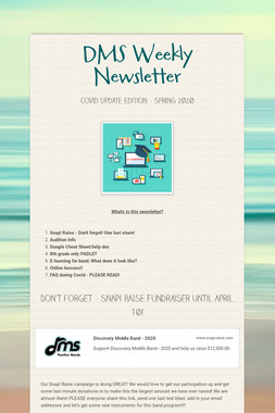 DMS Weekly Newsletter